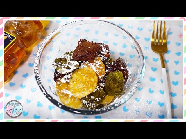 How to Make PANCAKE CEREAL TikTok Trend, Chocolate & Matcha Green Tea Pancakes, Recipe Dessert Ideas