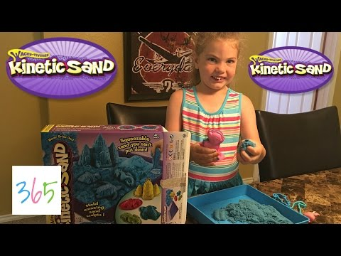 FIRST TIME PLAYING WITH KINETIC SAND   KIDS LIFE 365   5.27.16