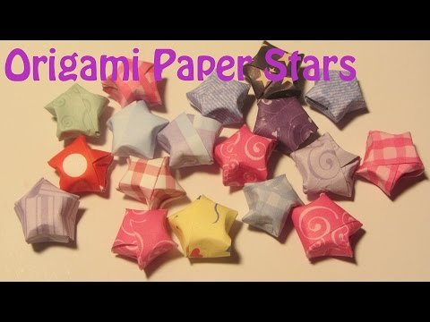 How to Make Puffed Paper Stars Origami Lucky Stars Craft Tutorial