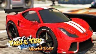 ДЕВУШКА ЗА РУЛЁМ ДОРОГОЙ МАШИНЫ - ОПАСНЫЕ ГОНКИ -Table Top Racing World Tour