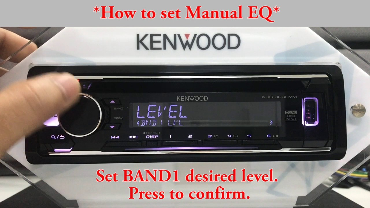 hight resolution of kdc 300uv how to set manual eq