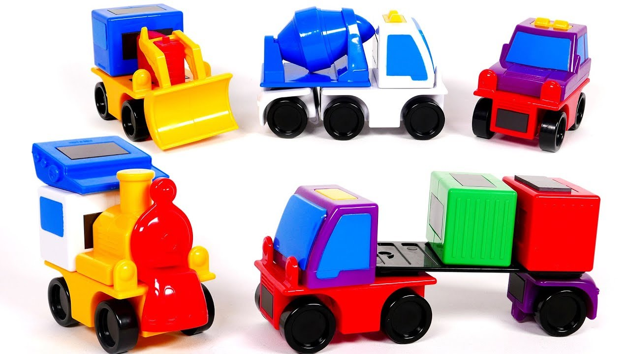 Building Toy Vehicles For Children With Magnetic Toys