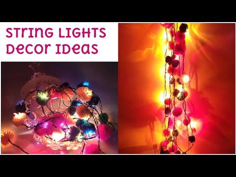 Diwali Decoration Ideas/ String Lights Decor Iights at Home..