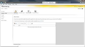 Outlook Web App: Getting Started