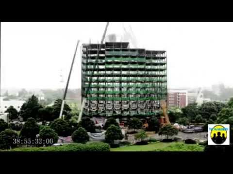 Cina, solo 48 ore per costruire un palazzo - China, only 48 hours to build a palace