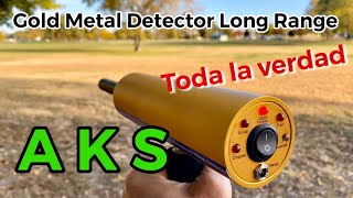 AKS. Gold Metal Detector Long Range. DETECTOR DE PROFUNDIDAD YouTube Videos