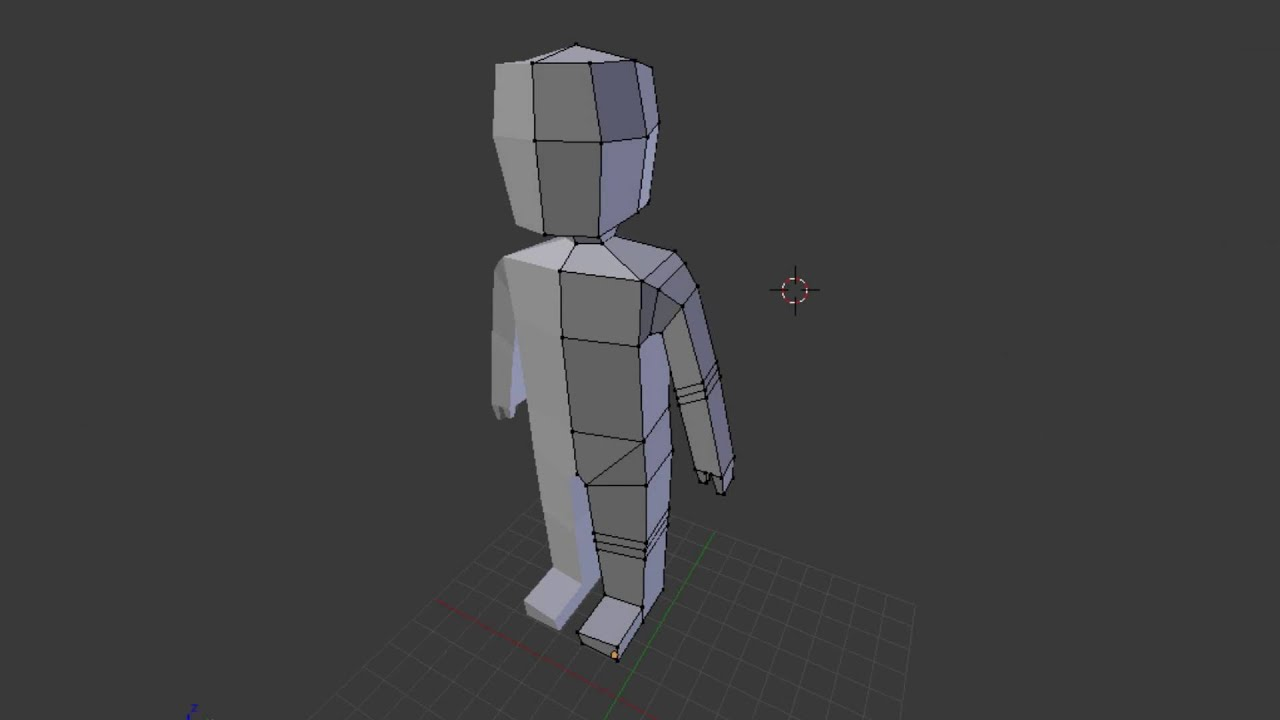 Character Modeling In Blender : Speedart low poly character modeling blender youtube