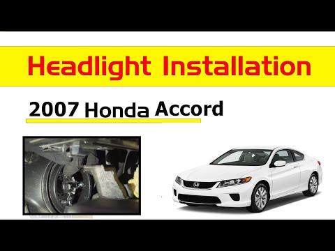 2003 2007 Honda Accord 9006 Led Headlight Low Beam Install Change Youtube