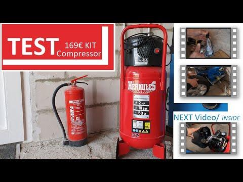 TEST Herkules Druckluft Kompressor Fifty 50L 10BAR für 169 mit KIT