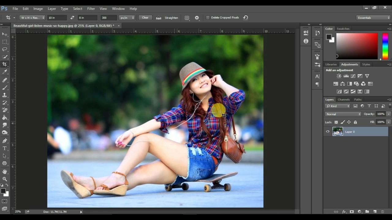 adobe photoshop how to change image size