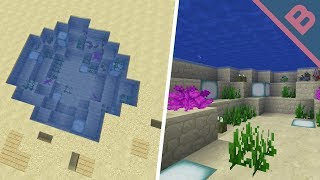 How to make a pond in Minecraft 1.13+
