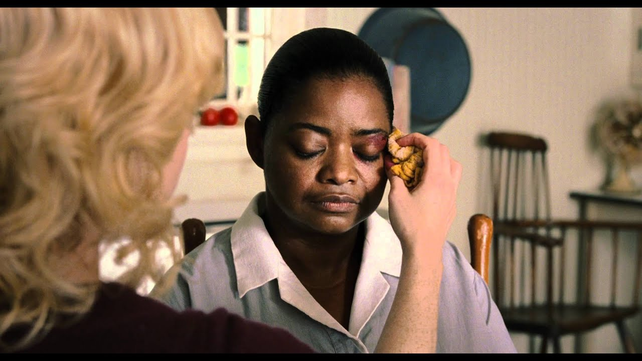 the help minny During a terrible storm, minny refuses to go out to use the help's toilet and uses the guest's bathroom, resulting in her getting fired by hilly.