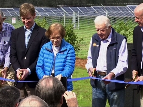 Former President Jimmy Carter Just Made a Solar Farm to Power Half His City