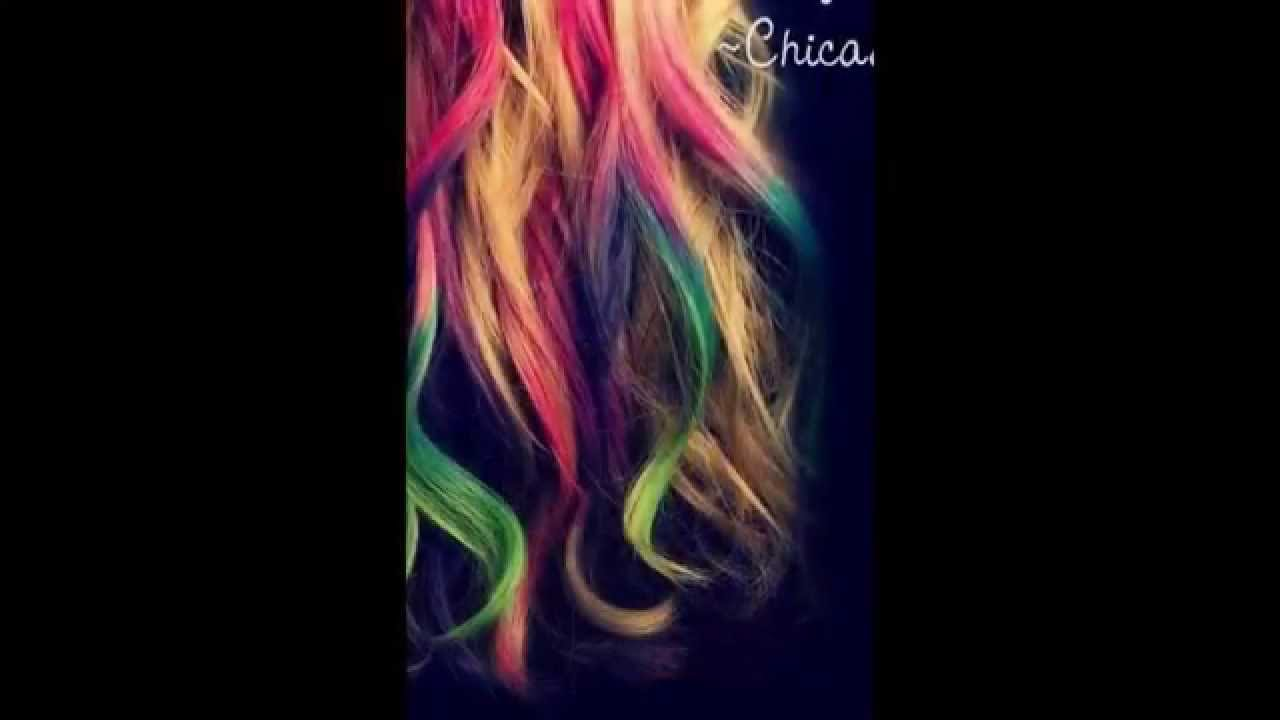 pelos de colores y mechas youtube