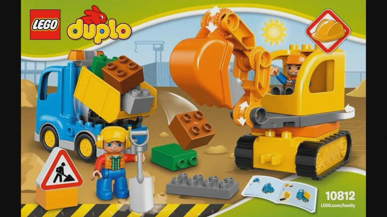 Lego Duplo 10812 Truck Tracked Excavator Instruction Timelapse