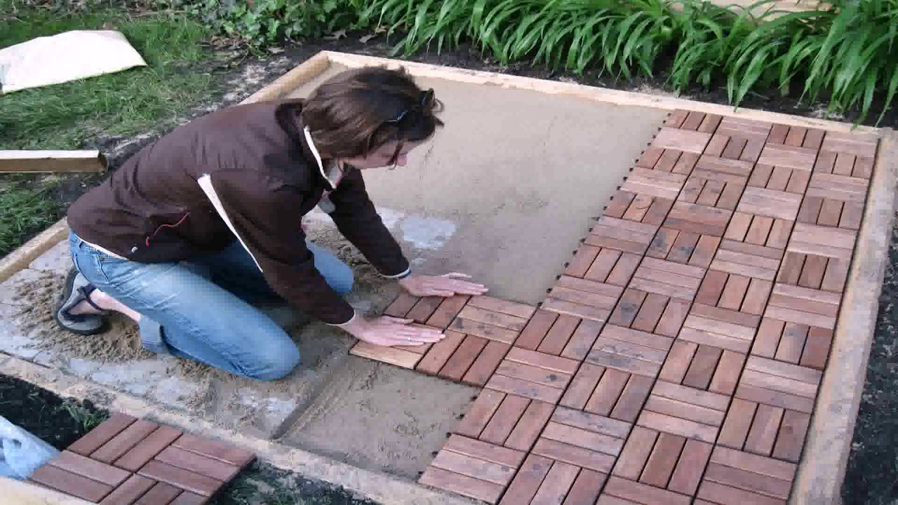 how to install interlocking polywood