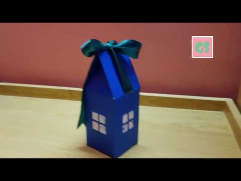 DIY Candy house |Gift wrapping box| Paper craft tutorial.🍭🍬