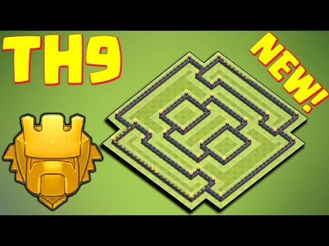 TH9 BASE FARMING TROPHY STRONGER !! 🏆TH9 TROPHY BASE🏆 DEFEND WIN | BASE TROPHY 2017 | CLASH OF CLANS