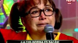 COMBATE: Diana Sánchez llora al conocer a 'La Chilindrina'