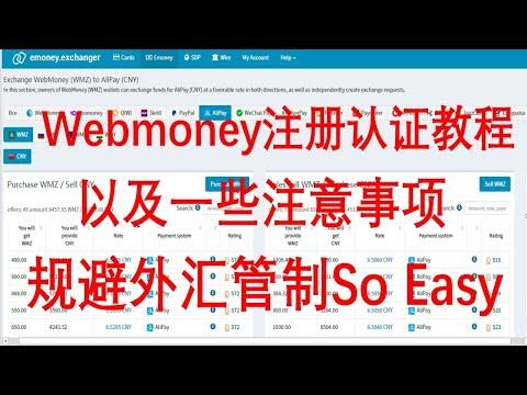 俄罗斯支付宝Webmoney注册认证教程以及一些注意事项,规避外汇管制、走资人士必备。