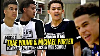Trae Young & Michael Porter Jr Were The MOST DOMINANT Duo In AAU! NASTY Handles, Dimes & Dunks!