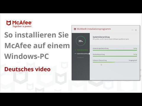 So installieren Sie McAfee auf einem Windows-PC