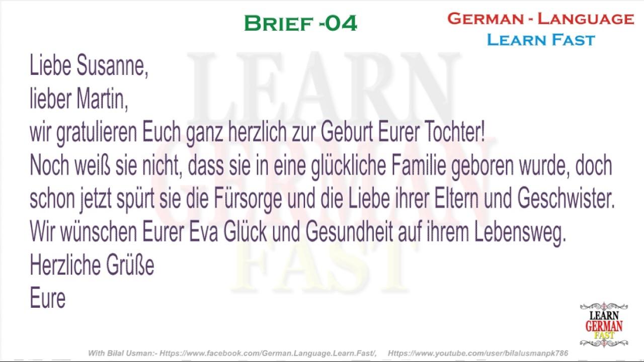 German Brief 04 A1 A2 B1 B2 C1 C2 Youtube