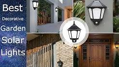 Best Decorative Outdoor Garden Led Solar Wall Lights Amazon