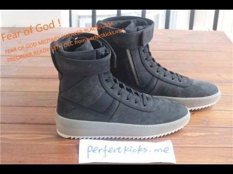 e790271bf14f FEAR OF GOD MILITARY SNEAKER BLACK GUM from perfectkicks.me! - YouTube