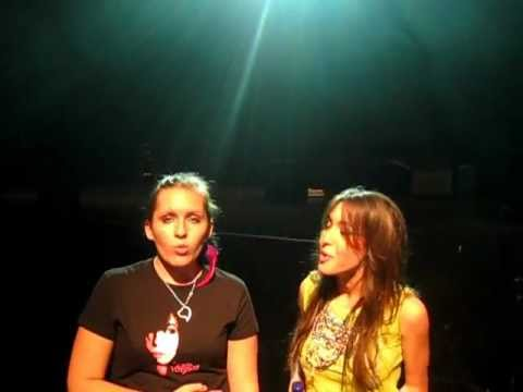 Me singing with Kate Voegele :D