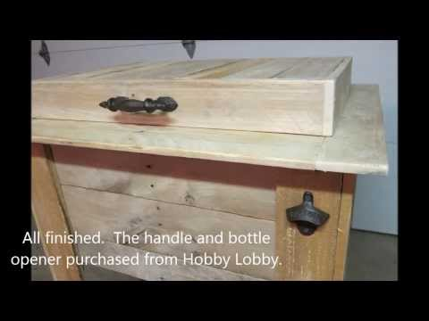 How to Build a Wood Pallet Cooler Stand