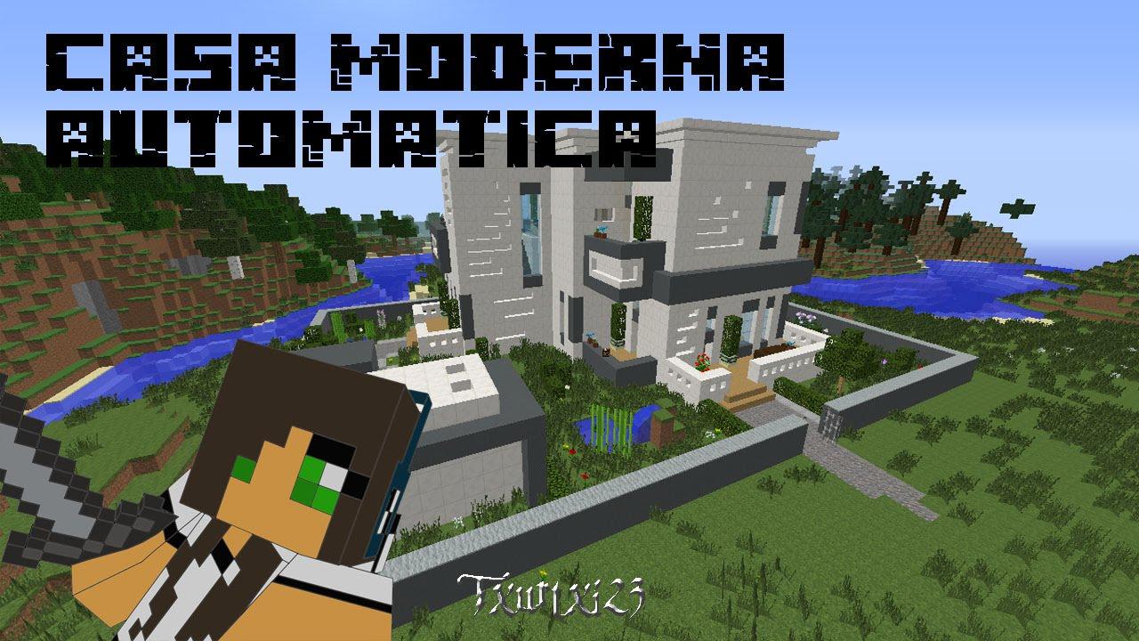 Minecraft casa moderna autom tica 1 7 links de for Casa moderna minecraft pe 0 10 5