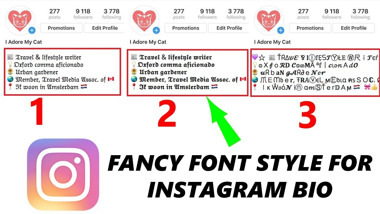 How to Write Bio On Instagram In Stylish Fonts (𝐜𝐨𝐩𝐲 𝕒𝕟𝕕 𝓅𝒶𝓈𝓉𝑒  😍) | By textgeneratorfont com