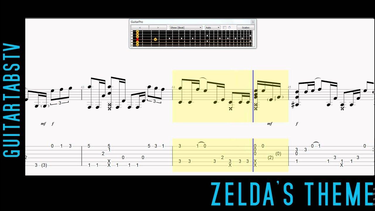 Zelda S Theme Fingerstyle Guitar Pro Tabs Sungha Jung