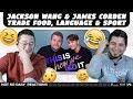 NSD REACT | Jackson Wang & James Corden Trade Food, Language & Sport