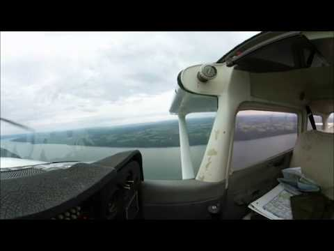 360 Cockpit View of Solo Cross-County Flight Time-laspe