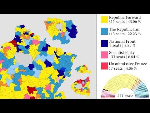 French Legislative Election 2017 Map