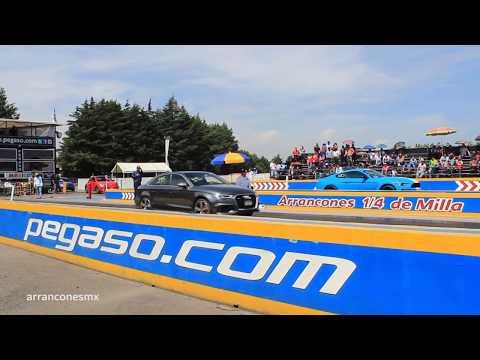 Audi RS3 vs Shelby GT350 2do Jale | 1/4 de Milla Pegaso Julio 2018