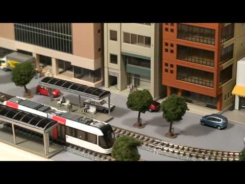 Toyama Portram Light Rail – N Scale Model Train Layout