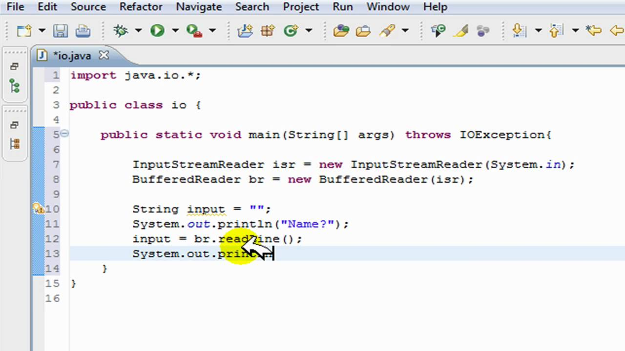 Out Java From User Input In Java Input Output Tutorial Help I O
