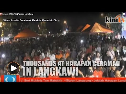 Thousands head out to see Mahathir in Langkawi