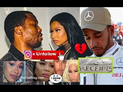 Meek Mill Unfollows Nicki Minaj & Subs Lewis Hamilton aka New Boy 💔RECEiPTS ☕