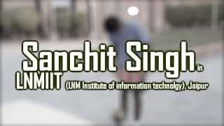 sanchit singh in lnmiit lnm institute of information technology jaipur freestyle football