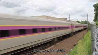 HD August Railfanning In Mansfield Feat. 7 Car Acela!