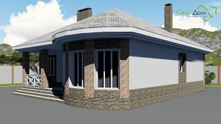 Проект одноэтажного дома Тихая Гавань B-245 с двумя спальнями