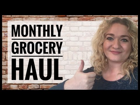 UK monthly grocery haul, budget pantry and frugal vegetarian cooking meal planning