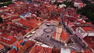 Brasov, Romania Aerial View 4K