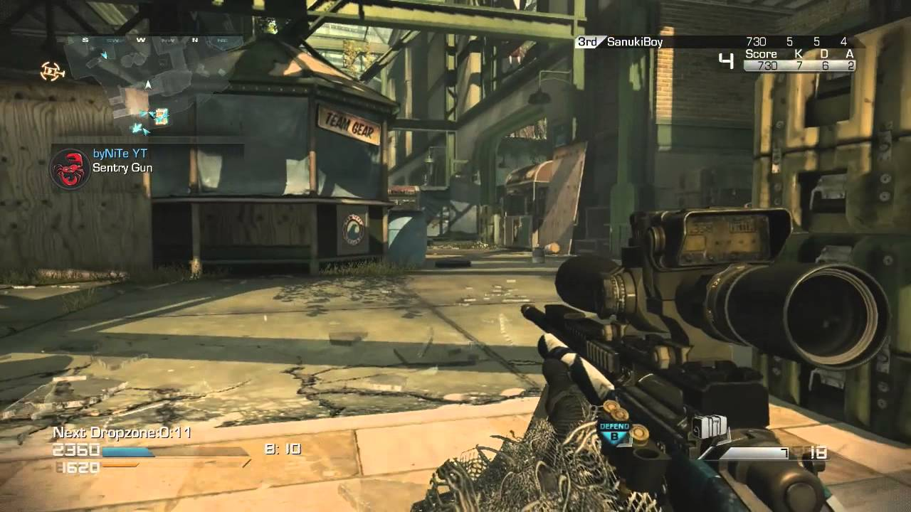Call of Duty Ghosts: Drop Zone Sniping With A Clip - Call of Duty Ghosts