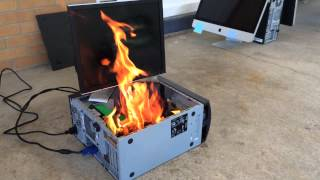 Dell Computer Fire / Explosion - FULL VERSION