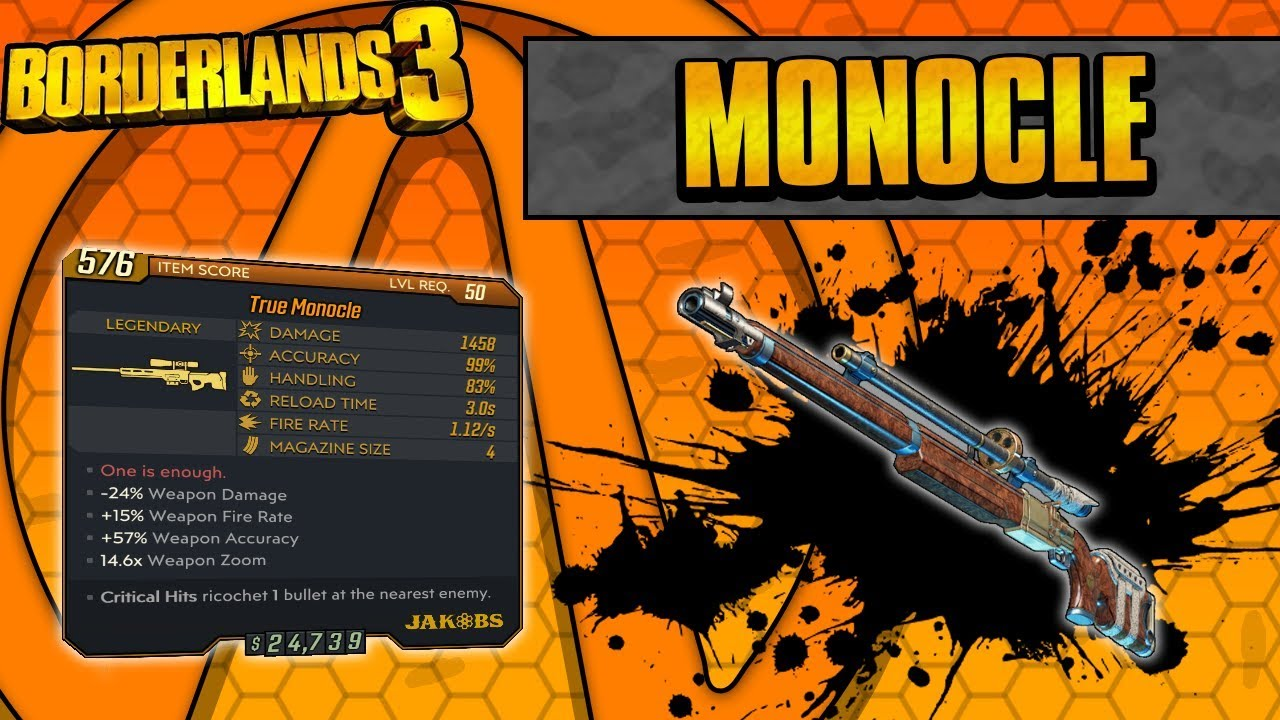 Borderlands 3 | Monocle Legendary Weapon Guide (Extreme Critical Hits!) thumbnail